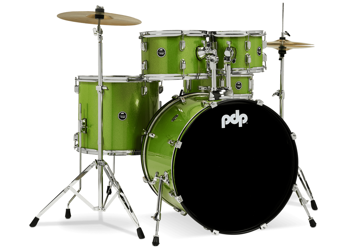 PDCE2215KTEL - Center Stage - Electric Green Sparkle – 5-Piece Complete Kit - Right