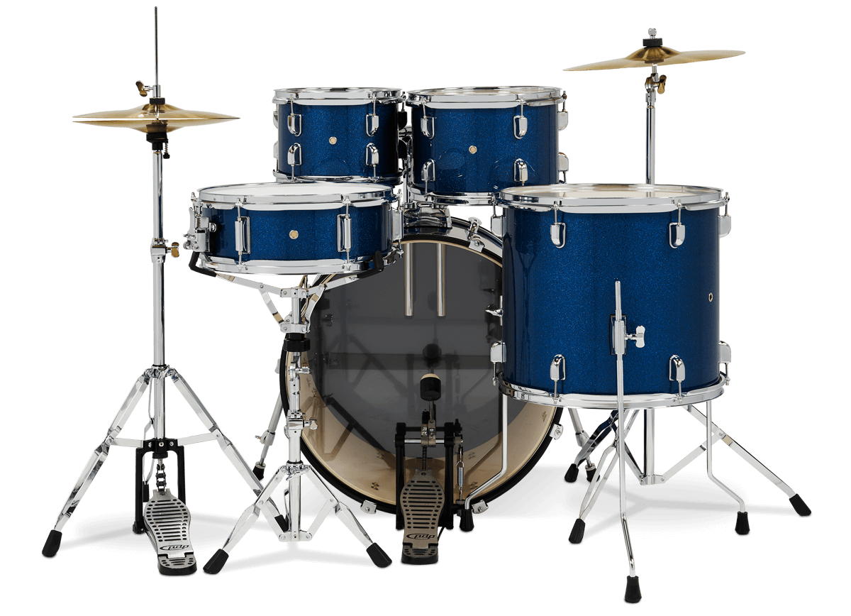 PDCE2215KTERB - Center Stage - Royal Blue Sparkle – 5-Piece Complete Kit - Player Perspective