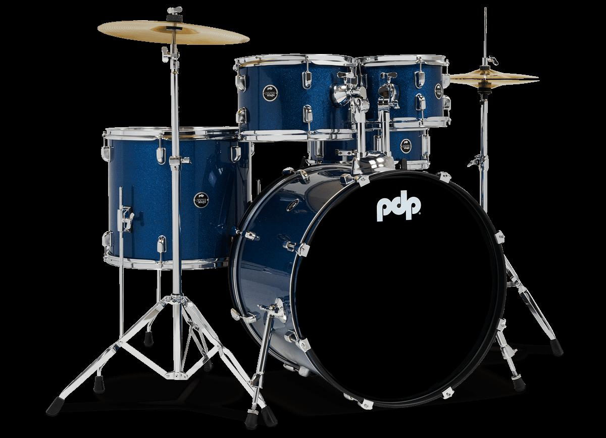 PDCE2215KTERB - Center Stage - Royal Blue Sparkle – 5-Piece Complete Kit - Right