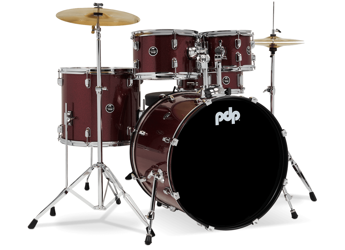 PDCE2215KTERR - Center Stage - Ruby Red Sparkle – 5-Piece Complete Kit - Right