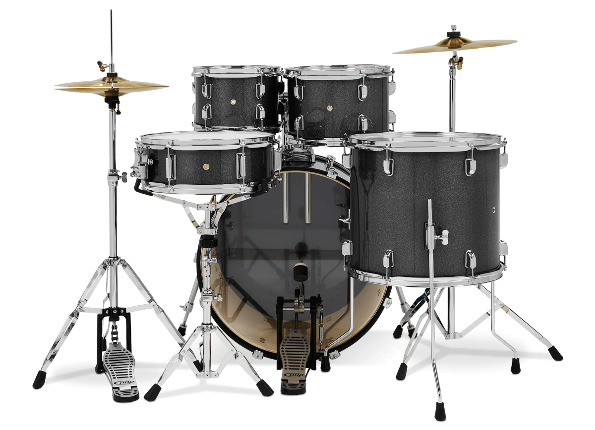 PDCE2215KTESS- Center Stage - Silver Sparkle – 5-Piece Complete Kit - Player Perspective