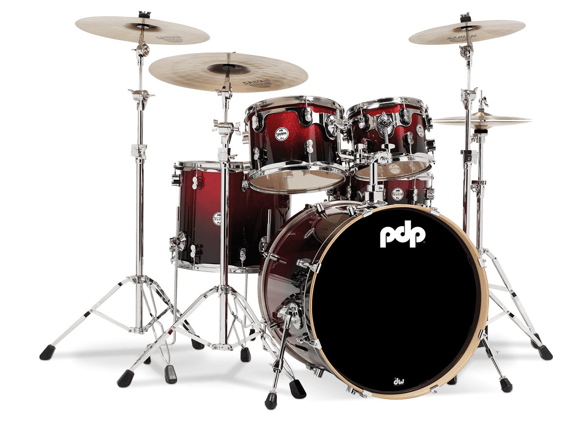 PDCM2215RB - Concept™ Maple - Red to Black Fade - 5-Piece Kit