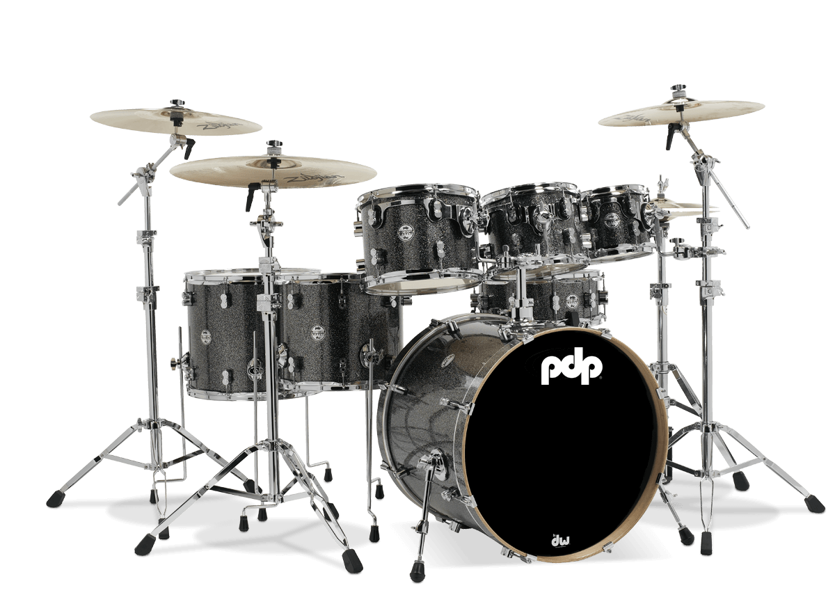 PDCM2217BP - Concept™ Maple - Black Sparkle - 7-Piece Kit