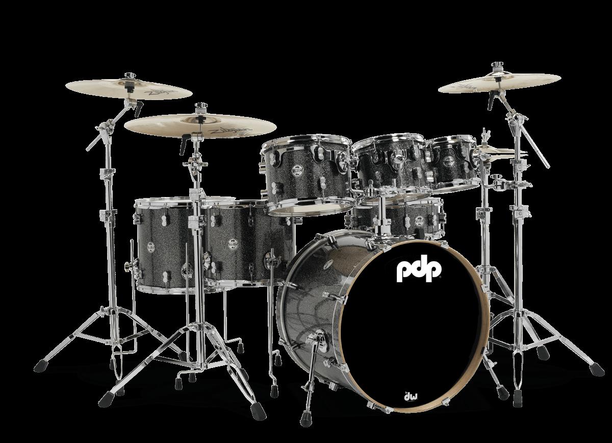 PDCM2217BP - Concept™ Maple - Black Sparkle - 7-Piece Kit