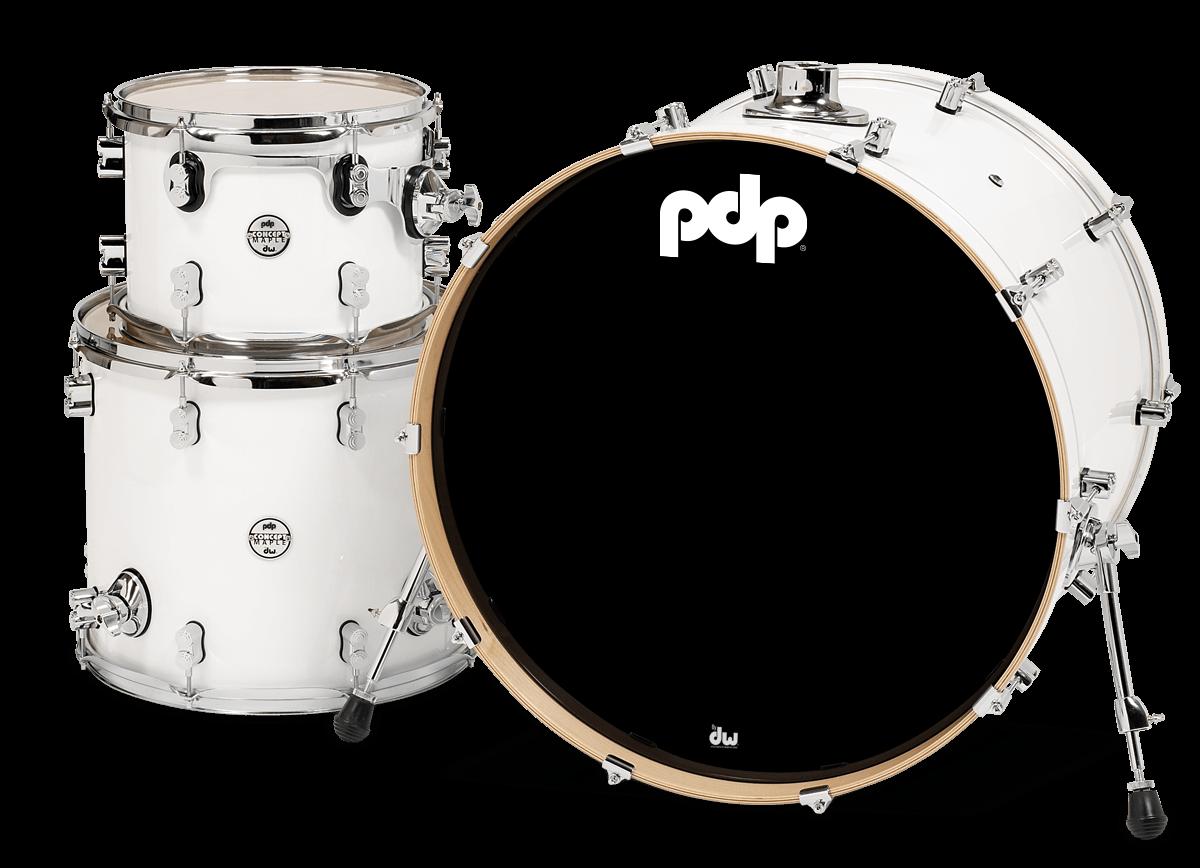 PDCM2413PW - Concept™ Maple - Pearlescent White - 3-Piece Kit