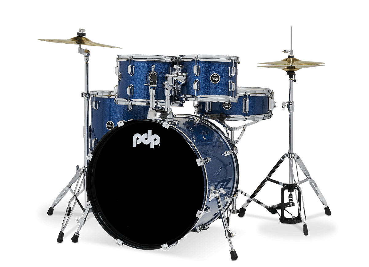 "PDCE2015KTRB - 20"" Kick 5-Piece - Royal Blue Sparkle - Left"