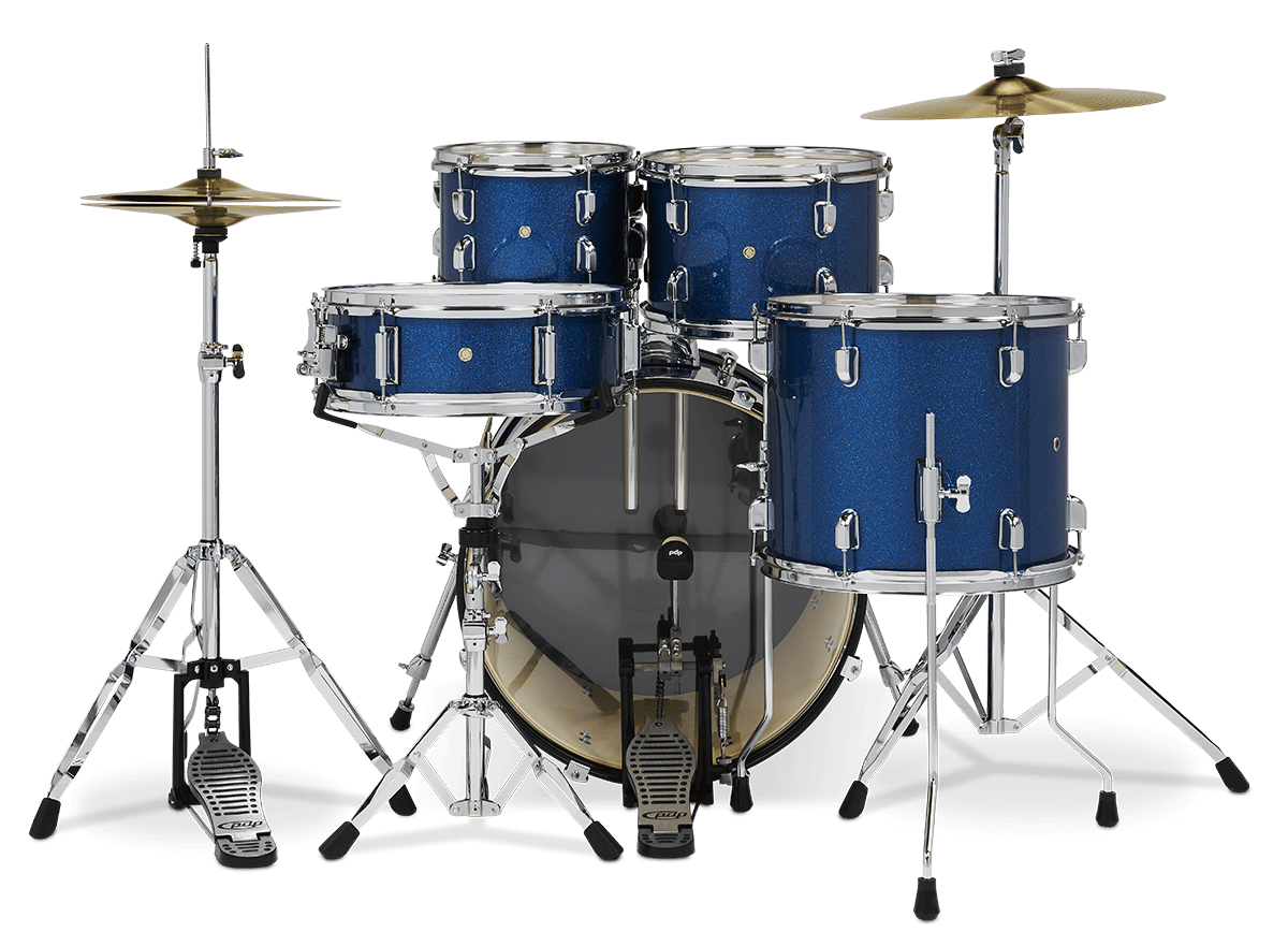 "PDCE2015KTRB - 20"" Kick 5-Piece - Royal Blue Sparkle - Perspective"