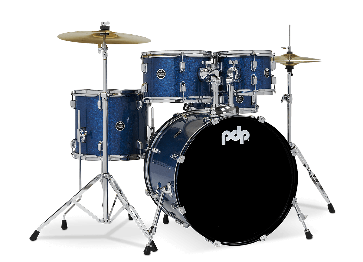 "PDCE2015KTRB - 20"" Kick 5-Piece - Royal Blue Sparkle - Right"