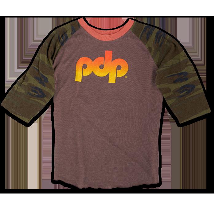 PR25LSCPDP - PDP Camo 3/4 Sleeve Shirt